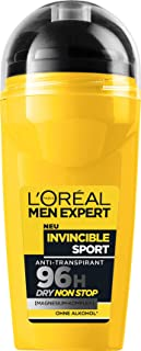 L'ORÉAL Men Expert - Deodorant Roll-On Invincible Sport, 2 x 50 ml