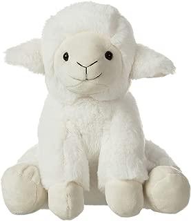 CharaHome Plush Lamb Sitting Lovely Creamy White Stuffed Animal, Soft Cuddly, Perfect for Girls Boys, Newborn Baby, 8''