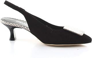 Luxury Fashion | Melluso Women V302NERO Black Suede Heels | Spring-summer 20