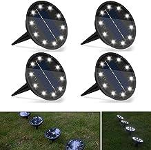 Solar Ground Lights 10 LED Garden Solar Lights Outdoor Pathway Solar Disk Lights Landscape Lighting Waterproof High Bright...