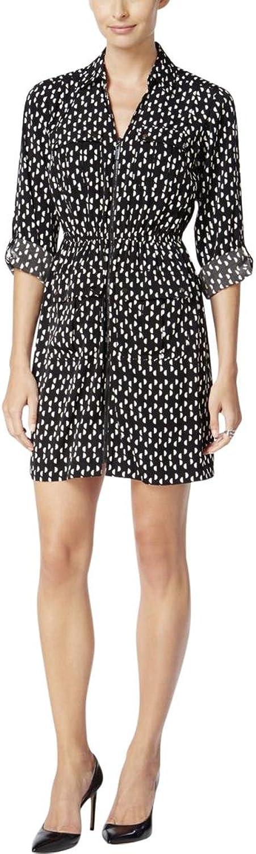 Alfani Womens Polka Dot Shirt Dress