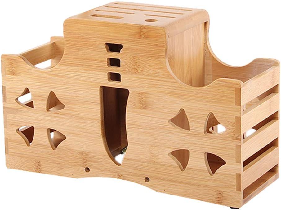 QINEORO Bamboo Wood 2021 new Knife Holder Safe Storage Easy Kitchen to Phoenix Mall
