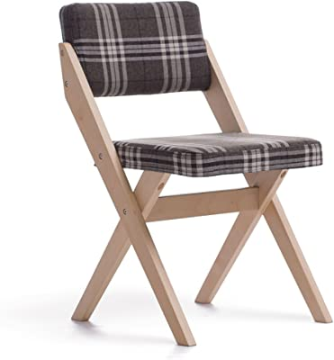 SCLL Silla Plegable sillas Plegables de Madera Maciza, Asiento de ...
