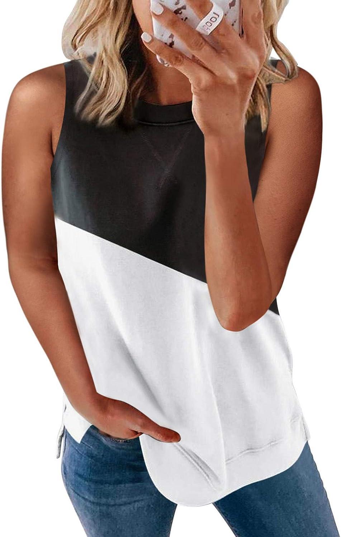 Astylish Womens Crewneck Tank Tops Casual Loose Sleeveless Blouse Shirts(S-XXL)