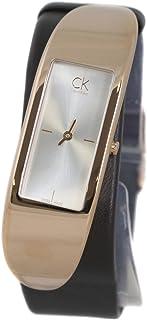 Calvin Klein Embody Silver Dial Leather Strap Ladies Watch K3C236G6