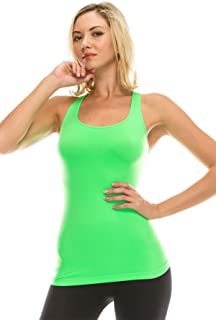 Kurve Seamless Supersoft Racerback Tank, UV Protective Fabric UPF 50+ (Made with Love in The USA)