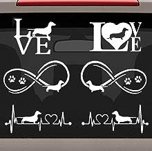 Bluegrass Decals Value Pack Dachshund Heartbeat Infinity Love Decal Sticker Set E1075