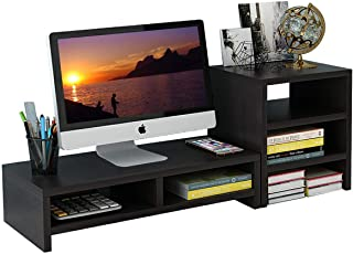 Computer Monitor Stand Desk Monitor Riser Table 2 Tier for Flat Screen TV Computer Laptop Xbox Printer Office Home and Sch...