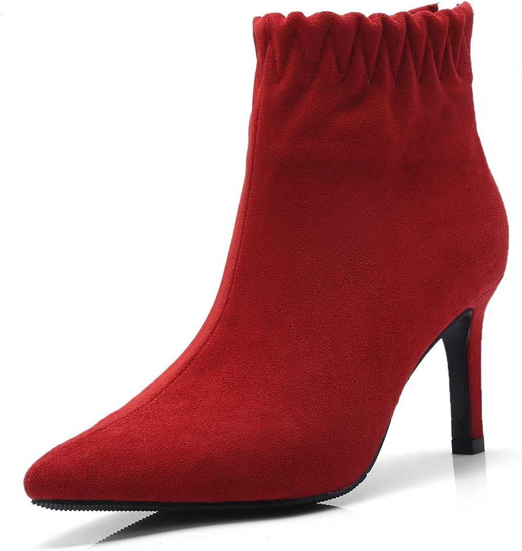 AdeeSu Womens Solid Fashion Travel Urethane Boots SXC03638