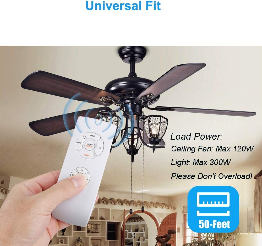 Buy Universal Ceiling Fan Remote Control Kit 3 In 1 Ceiling Fan Light Timing Speed Remote For Hunter Harbor Breeze Westinghouse Honeywell Other Ceiling Fan Lamp Online In Greece B07wbyt5h9
