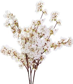 Sunm boutique Silk Cherry Blossom Branches, Artificial Cherry Blossom Tree Stems Faux..