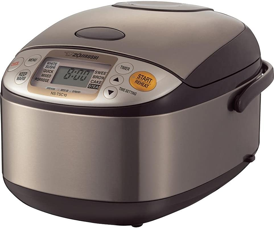 Zojirushi NS TSC10 5 1 2 Cup Uncooked Micom Rice Cooker And Warmer 1 0 Liter