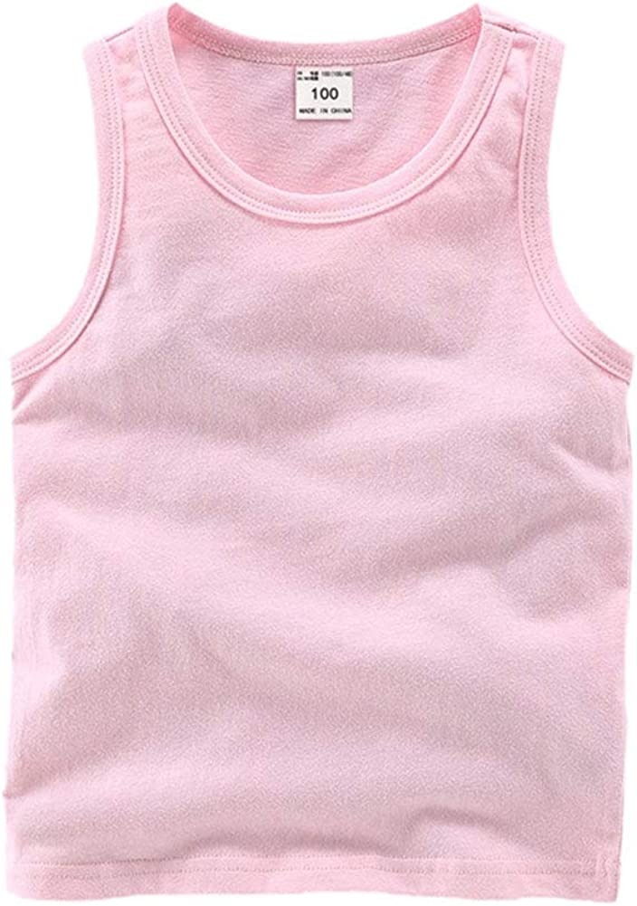 DCUTERQ Toddler Baby Special Campaign Boys Girls Tops Undersh specialty shop T-Shirts Tank Solid