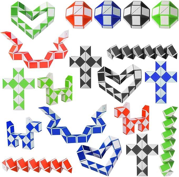 204 opinioni per Kulannder 20 Pacco da 24 Blocchi Cubici di Serpenti Magici, Mini Cubetti di