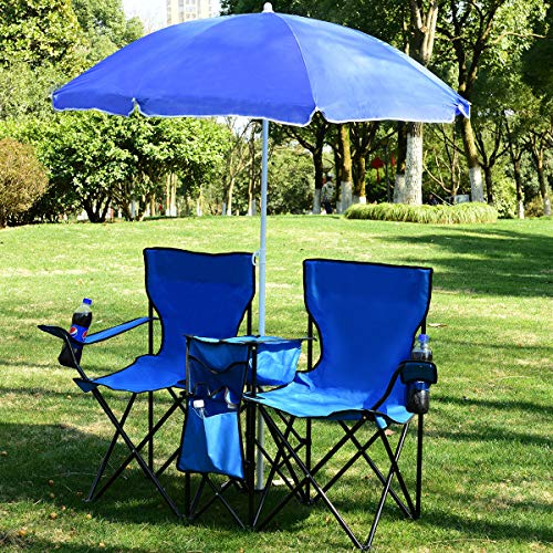 Multigot Double Camping Chair, Portable Folding Camping Double Seat Chair...
