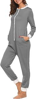 Damen Langarm Jumpsuit Schlafanzug Pyjama Schlafoveralls Winter Onesie Jumpsuit Overall Nachtw/äsche Frauen 3D Galaxy Trainingsanzug Rei/ßverschluss mit Kapuze Overalls Kost/üm Strampler Freizeitanzug