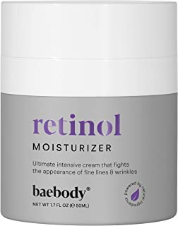Baebody Retinol Moisturizer Cream for Face, Neck and Décolletage with Wrinkle and Acne Fighting Retinol, Jojoba Oil and Vi...