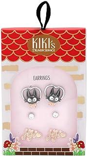 Studio Ghibli Her Universe Kiki's Delivery Service 3 Pair ~ Heart Jiji Earring Set