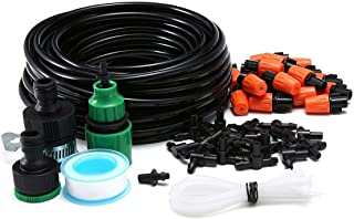 15m DIY Drip Irrigation System Automatic Plant Self Watering Garden Hose Mist Drip Garden Watering System, 20pcs Plastic M...