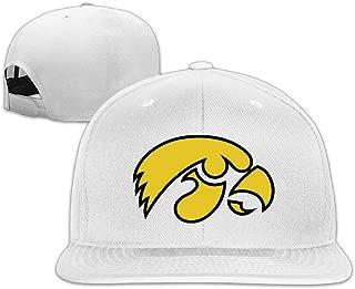 Iowa Hawkeyes Logo Flat Brim Baseball Snapback Cap