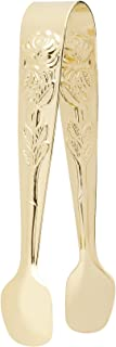 HIC Rose Sugar Tong, Gold-Plated Japanese Stainless Steel, 4-Inch