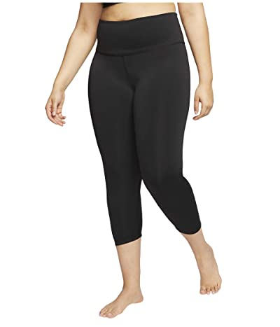 Nike Plus Size Yoga Ruche 7/8 Tights (Black/Dark Smoke Grey) Women