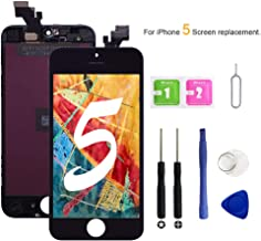 VANYUST for iPhone 5 Screen Replacement, LCD Display Touch Screen Digitizer Assembly with Tool Kits Compatible for iPhone 5 Black