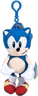 Gosh Designs Peluche Sonic The Hedgehog El Erizo Muñeco del Videojuego Sega, Peluche Llavero Monedero 20cm