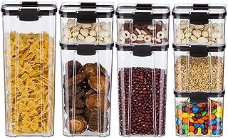 Récipient grain étanche à l'humidité réservoir étanche transparent réservoir de stockage de grain sec Réfrigérateur Noodle...