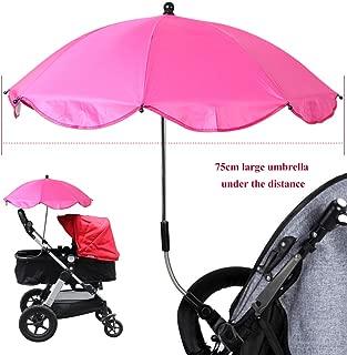 Gris Clip sur hauteur réglable poussette parapluie parasol pour Bébés Landau Buggy