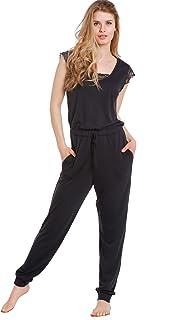 ملابس نوم رومبير نسائية من Jones New York ناعمة وخفيفة الوزن ومريحة قطعة واحدة