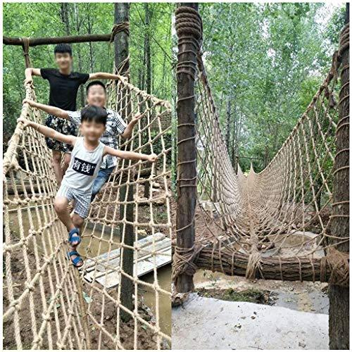 Xia Yuuu Net Red De Seguridad 8mm/12cm Red De Escalada Balcón Barandilla Escalera Valla Red De Protección Decoración Red De Cuerda De Cáñamo para Niños Juguetes Mascotas Cuerda Patio(Size:2 * 6M)