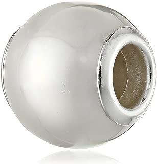 Sterling Silver White Pearl Seashell Bead June Birthstone for European Chamilia Biagi Troll Pandora Charm Bracelets