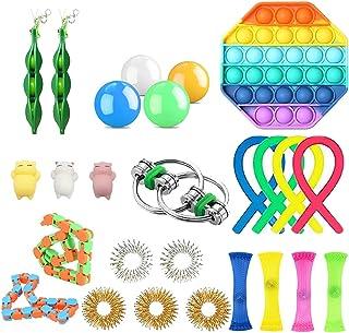 24 Pcs Fidget Toy Set, Cheap Sensory Fidget Toys Pack for Kids or Adults,Pop It Fidget Toy Push Pop Bubble Figet Toys Pack...