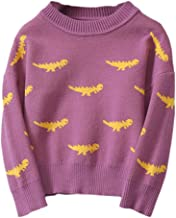 Willsa Baby Girl Clothes, Boys Girls Dinosaur Knitted Sweaters Soft Warm O Neck Long Sleeve Sweater Coats
