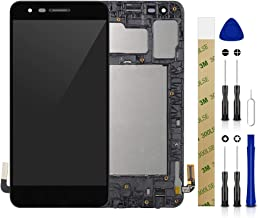 for AT&T LG Phoenix 4 LM-X210APM LCD Screen Display Assembly Touch Screen Digitizer Panel Glass Replacement Tool (with Frame)