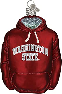 Old World Christmas Ornaments: Washington State University Glass Blown Ornaments for Christmas Tree, Hoodie