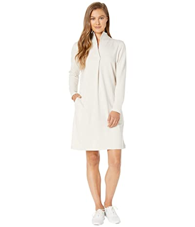 NAU Long Sleeve Elementerry Mock V Dress (Ivory) Women