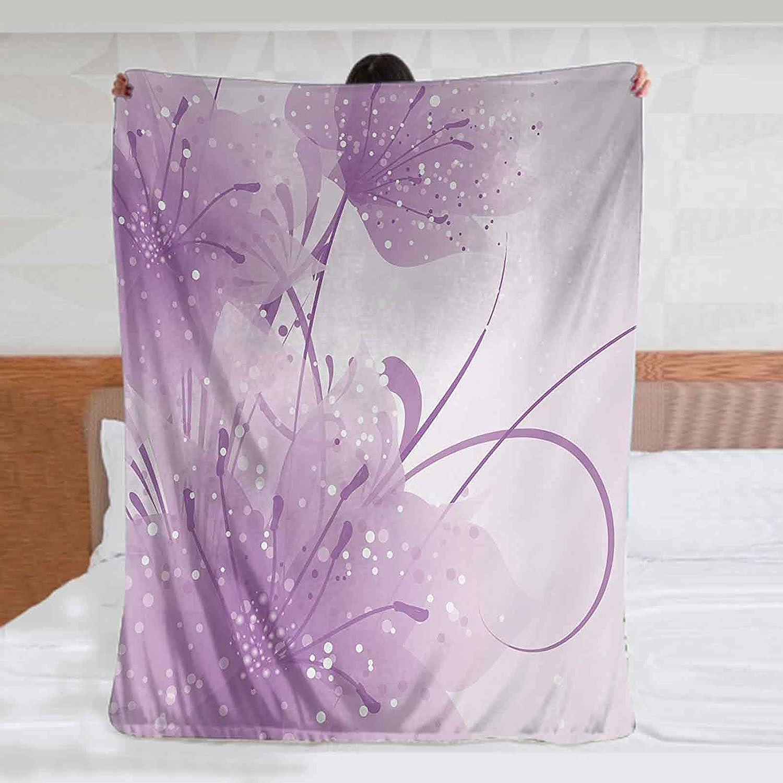 Purple Blankets Throws 60