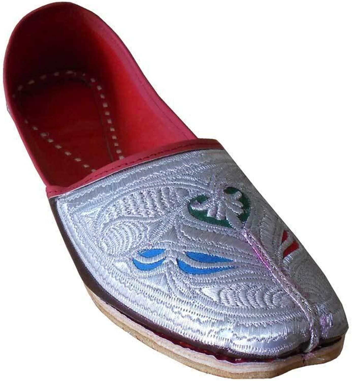 Kalra skapade mannens traditionella indiska Faux Läder med broderier Tillfälliga Tillfälliga Tillfälliga skor  motverka äkta