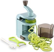 Ourokhome Vegetable Spiralizer Zucchini Noodles Maker - 4 Built-in Spiral Slicer Blade for Veggie Spaghetti Paste