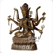 Statue Sculptures Chinese Religious Buddhism Handmade Eight-Armed Buddha Statue
