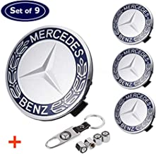 Aswelly Wheel Center Hub Caps Emblem Fit for Benz, 4PCS 75mm/2.95