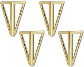 Set van 4 metalen meubelpoten, 6 inch / 15 cm driehoek goud meubelpoten, DIY tafelpoten kastpoten, voor stoelen, kast en b...