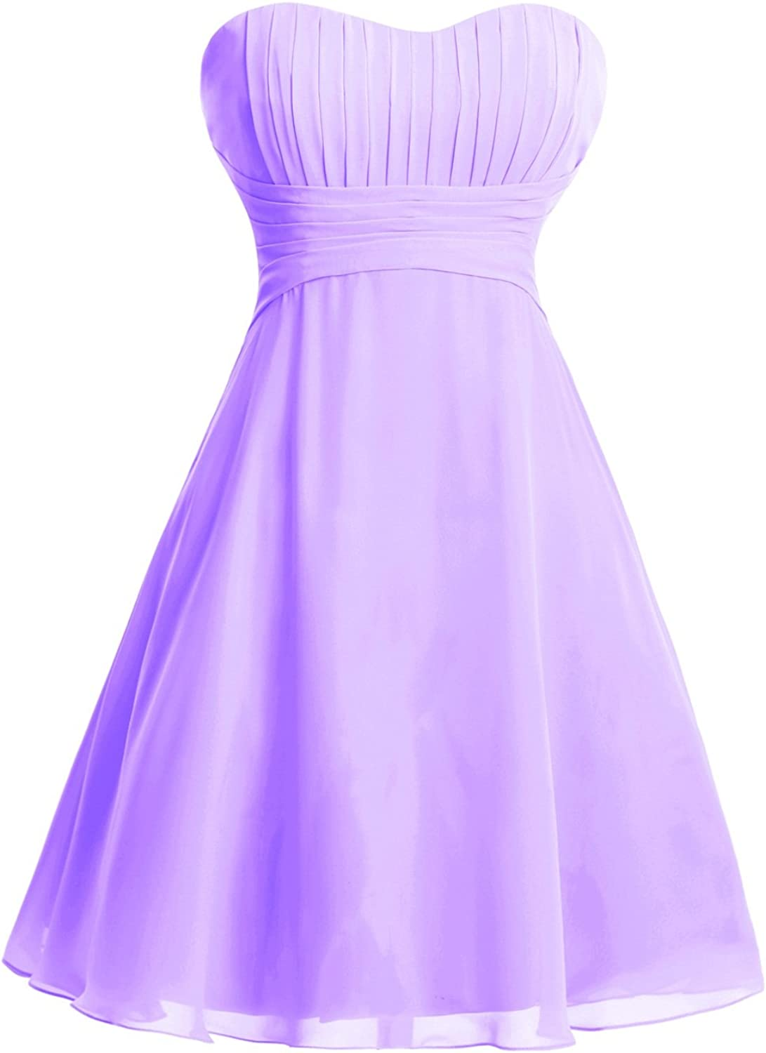 Dasior Strapless Empire Short Bridesmaid Dress Homecoming Dress