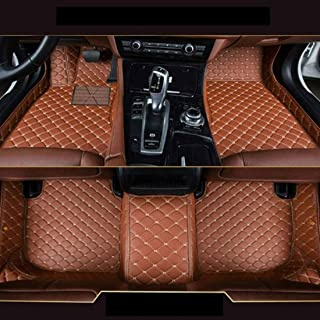 SLONG for BMW 1series 12-14 Custom Car Floor Mat Fully Surrounded Crew Cab Armor Interior Accessories All Weather Auto Carpet Anti-Slip Waterproof Flooring Only Fit Left Drive Brown