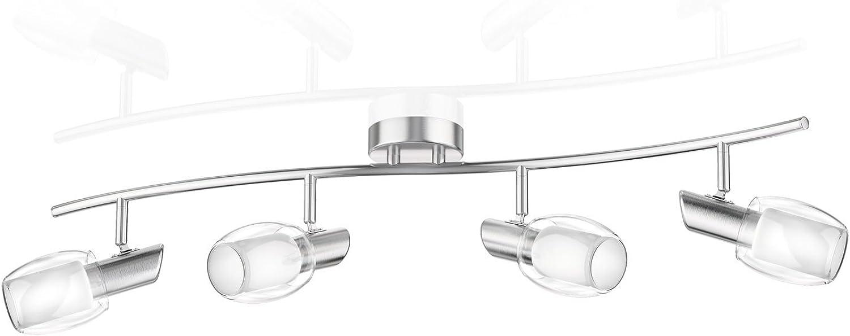 Ledscom  Deckenleuchte ELERA, vierflammig inkl. 300lm LED E14 Lampen, wei