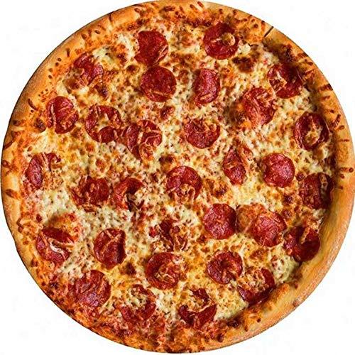 Mabofix Manta de franela suave y cálida para pizza, 200 g/m², forma redonda, donut, hamburguesa, avión, viaje, portátil, manta de invierno (color: rojo, tamaño: diámetro: 150 cm)