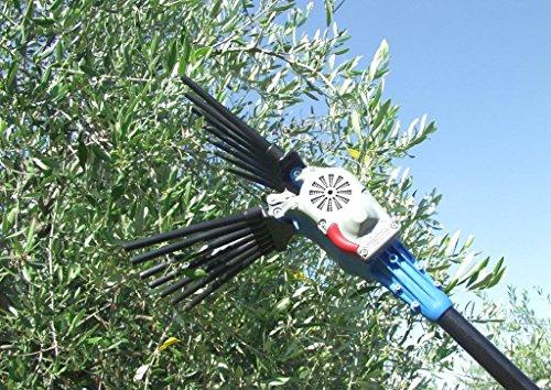 Vareador eléctrico con peine Oliwatt 2 Lisam recogedor de aceitunas rastrillo para...