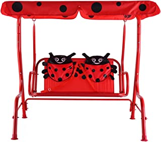 EnjoyShop 2 Person Kids Patio Swing Porch Bench with Canopy